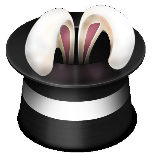 hat, magic, rabbit icon