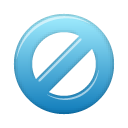 block, blue icon