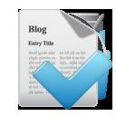 accept, blog icon