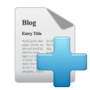 blog, add