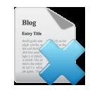blog, delete