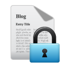 blog, private icon