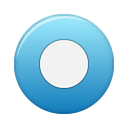 blue, button, rec icon