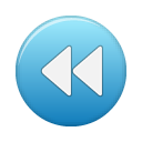 blue, button, rew icon