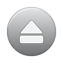 button, eject, grey icon