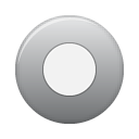 button, grey, rec icon