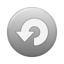 button, grey, repeat icon