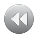 button, grey, rew icon