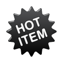 hot, label icon