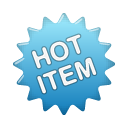blue, hot, label icon