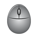 gray mouse, mouse, oval mouse icon