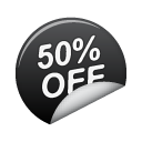 50off, sticker icon