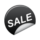 sale, sticker icon