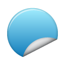 blue, sticker icon