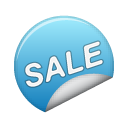 blue, sale, sticker icon
