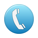 purple, support, telephone icon