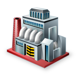 factory, industry, manufacturer, production icon