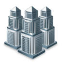 buildings, businesses, city, companies icon