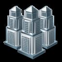 buildings, businesses, city, companies icon