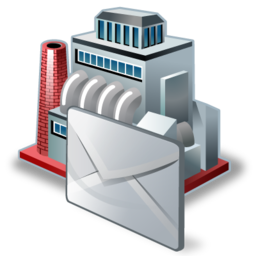 factory, industry, mail, manufacturer, production icon