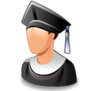graduated, man, student, user icon