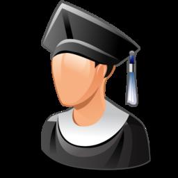 graduated, man, student, user icon