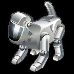 dog, pet, robot, technology icon