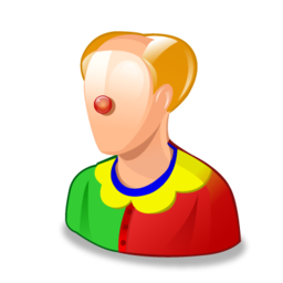 clown, jester icon
