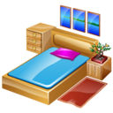 bed, bedroom, furniture, hotelroom, sleep icon
