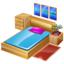 bed, bedroom, furniture, hotelroom, sleep icon