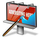 advertise, advertisement, advertising, affiliate network, banner, billboard, design icon