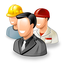 gente, group, office, people, testimonials, users, workers icon