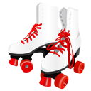1950s, 50s, retro, roller skates, rollerskates icon