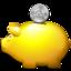 money, moneybox, piggy bank, saving, savings icon