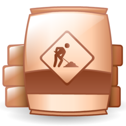 barrel, material, raw, under construction icon