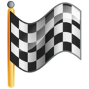 checkered, flag, goal