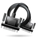 vga, extension, cable icon