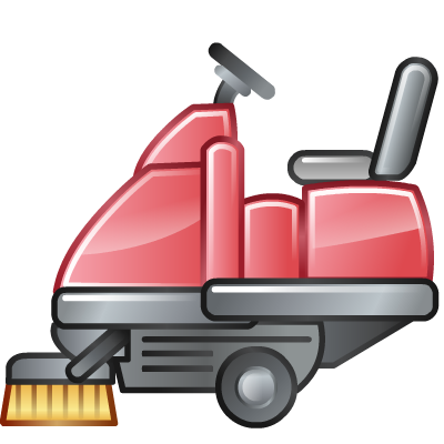 road, sweeper icon