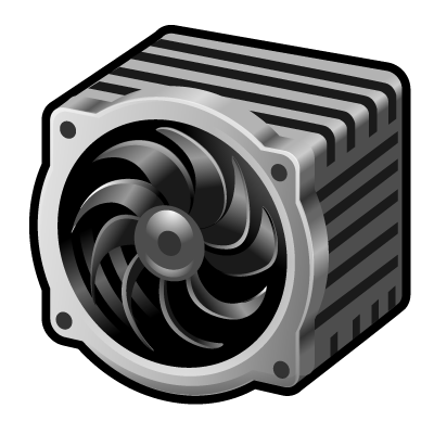 cpu, fan icon