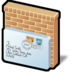 block, email icon