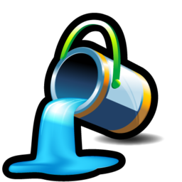bucket, color, fill, paint icon