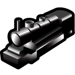 locomotive, steam, train icon
