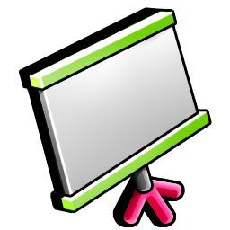conference, screen icon