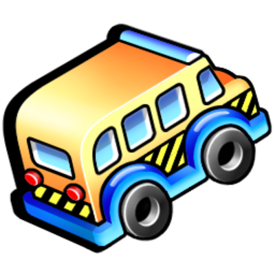 school bus, service, transportation icon