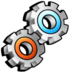 execute, gears, process, running, settings, utilities icon