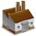factory, house, industry, manufacturer, production icon