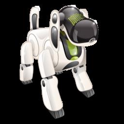 dog, robot, technology icon