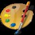 art, palette, web design icon