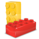 box, brick, file, format, lego, module icon