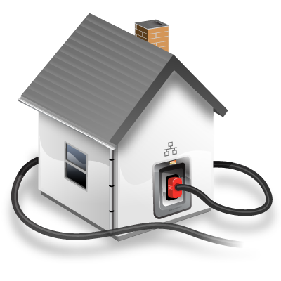 connected, home, house, local, network icon
